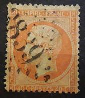 Empire Dentele No 23, 40 C Orange Obl GC 3839 De  ST SAINT ROME DE TARN, Aveyron  Indice 8 BTB - 1862 Napoléon III
