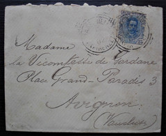 Italie 1902 Lettre Pour La Vicomtesse De Gardane à Avignon (timbre Def) - 1877-1920: Periodo Semi Moderno
