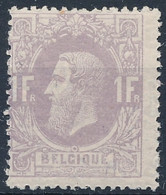 [** SUP] N° 36, 1F Mauve - Fraîcheur Postale. Superbe - Cote: 1525€ - 1869-1883 Leopold II