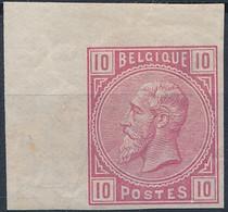 [* SUP] N° 38, 10c Rose, Non Dentelé - Coin De Feuille - 1869-1883 Leopold II
