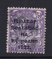 Ireland: 1922   KGV OVPT    SG36    3d   Violet    Used - Gebruikt