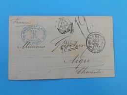 MARQUE POSTALE DE NEW ORLEANS A AIGRE DU 15 MARS 1872 - 1801-1848: Precursors XIX