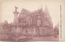 58 - POUILLY SUR LOIRE L'Eglise Et Le Monument écrite - Pouilly Sur Loire