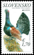 Slovakia 2021 1 V MNH Europa 2021 - The Western Capercaillie Tétras Birds Bird Oiseaux Oiseau - Grey Partridge