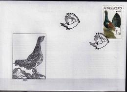 Slovakia 2021 FDC Europa 2021 - The Western Capercaillie Tétras Birds Bird Oiseaux Oiseau - Grey Partridge