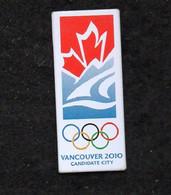 Pin's JO VANCOUVER 2010 - Giochi Olimpici