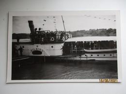 LITHUANIA STEAM SHIP VILNIUS ON RIVER , OLD POSTCARD   , O - Litouwen