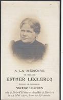 Esther Leclercq Bois D Haine Baulers 1920   Doodsprentje Mortuaire - Religion & Esotericism