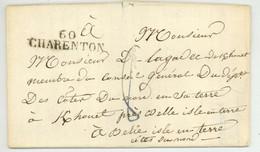 Alfort 1825 60 CHARENTON Pour Belle Isle En Terre - 1801-1848: Precursores XIX
