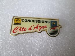 PIN'S    OPEL   GM   CONCESSIONS  CÔTE D'AZUR - Opel