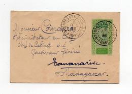 !!! SOUDAN, ENTIER POSTAL (+COMPLT AU DOS) DE SATADOUGOU DE 1925 POUR LE GOUVERNEUR DE MADAGASCAR - Cartas