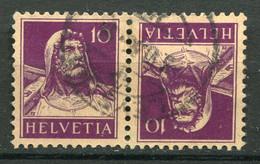 21936 SUISSE N°243b° 10c. Violet Foncé S. Chamois Tête-bêche    1930  B/TB - Tete Beche