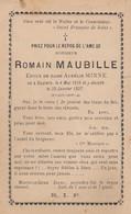 Romain Maubille Baulers 1828 - 1897  Doodsprentje Mortuaire - Religion & Esotericism