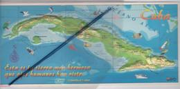 Caraïbe - Cuba . Esta Es La Tierra Màs Hermosa...Superbe Carte Panoramique Gaufrée ,en Relief , Illustrée... - World