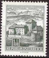 Österreich, 1967, Bauwerke, Schattenburg In Feldkirch, 1,30 S, MNH** - 1961-70 Ungebraucht