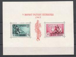 Deutsche Besetzung II . WK , Serbien , Block 4 Ungebraucht - Occupation 1938-45