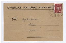 CARTE D'ADHERANT Au SYNDICAT NATIONAL D'APICULTURE - REIMS - 1944 - Other