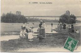 58 - COSNE La Loire, Les Sables Animée écrite Timbrée - Cosne Cours Sur Loire