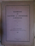 Laos Elements De Lecture Et D'ecriture Laotienne Marc Reinhorn 1952 Vientiane - Non Classificati