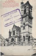 $ TAMPON CROIX ROUGE AMBULANCE GARE $ 58 - CLAMECY Eglise Saint Martin écrite - Clamecy
