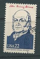 VERINIGTE STAATEN ETATS UNIS USA 1986 AMERIPEX: JOHN QUINCY ADAMS 22C USED SC 2216F YT 1637 MI 1804 SG 2216AF - Oblitérés