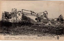 GUERRE 1914-1915 - Léomont (route De Nancy à Lunéville - La Ferme Aprés Le Bombardement - Autres Communes