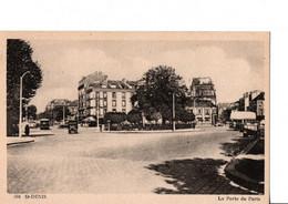 """504. - St-DENIS.  - La Porte De Paris. """"autos, Bus, Pub.PICON...""""  RARE. ETAT NEUF.  Voir SCANS Recto-verso - Saint Denis"""