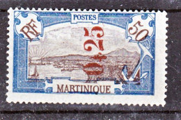 Martinique 110 Surchargé Dent Irreg Neuf Avec Trace De Charnière* TB MH Con Charnela Cote 14 - Neufs