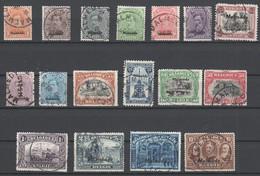 Belgische Militärpost In Deutschland , Malmedy  Nr 1-17 Gestempelt - Occupation 1914-18