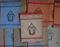 Laos Lot 12  Bullettin De La Societe Royale Des Sciences Naturelles Du Laos 1961/ 1968 - Scienza