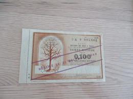 Ticket Matière 0,100 Millième D'unité Bois Paris Nécessité Guerre 39/45 - Bons & Nécessité