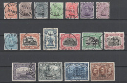 Belgische Militärpost In Deutschland , Eupen Nr 1-17 Gestempelt - Occupation 1914-18