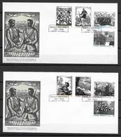 GREECE * 1982 * 2 F.D.C. With Complete Set 8 Stamps * FINE* National Resistance Movement - Mi.No 1495-1502 - Storia Postale