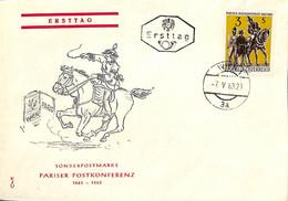 D - [909598]B/TB//-Autriche 1963 - WIEN 3a, Chevaux, Animaux - FDC