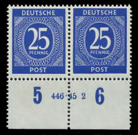 KONTROLLRAT ZIFFERN Nr 926a HAN 446.45 2 Postfrisch WAA X82CAE6 - American,British And Russian Zone