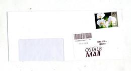 Grand Fragment De Lettre Poste Privée Par Vignette BWPOST Orchidee - Machine Stamps (ATM)