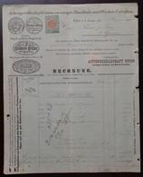 Matchstick And Shoe Polish - Actiengesellschaft Union, Vereinigte Zundholz Und Wichse-Fabriken. Linz, 1894. Rechnung - Other