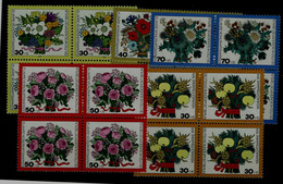 GERMANY 1974 BERLIN FLOWERS BLOCK OF 4 MI No 473-6 MNH VF!! - Sonstige