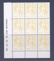Coin Daté N° 4763 Y.T. Marianne Et La Jeunesse 0.01€ Type Ciappa Et Kavena Date: 30.02.15 - 2010-....