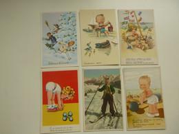 Beau Lot De 20 Cartes Postales De Fantaisie ( Pas écrite ) Enfants Enfant   Mooi Lot Van 20 Postkaarten Fantasie Kind - 5 - 99 Postcards