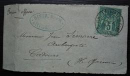 """Lévignac 1886 (Haute Garonne) """"bande Journal"""" Papier D'affaires Du Notaire Dasque Pour Cadours - 1877-1920: Periodo Semi Moderno"""