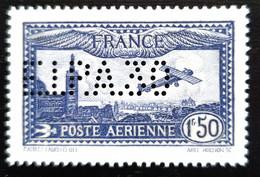 Poste Aérienne 6C  Timbre RARE  POSTE AÉRIENNE DE FRANCE N°6C PERFORÉ EIPA 30 Avec Certificat - 1927-1959 Postfris