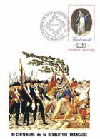 Carte Maximum BICENTENAIRE DE LA REVOLUTION 27 Mai 89 + Timbre 2.20 Fraternité - 1980-89