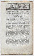 Bulletin Des Lois N°27 Thermidor An II (1794) Condamnés Pour Crimes Emportant Confiscation/Fonctionnaires/Dette Publique - Decretos & Leyes