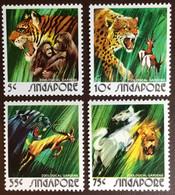 Singapore 1973 Zoo Animals Big Cats MNH - Unclassified