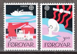FAROE Islands 160-1 ** MNH (1988) – Europe CEPT : Transport & Communication - Faroe Islands