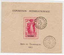 !!! SOUDAN, BLOC EXPO 1937 OBLITERATION DE KOULOUBA DU 12/7/1937 SUPERBE - Usados
