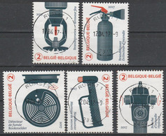 4677/4681 Prévention Incendie/ Brand Preventie Oblit/gestp Centrale - Used Stamps