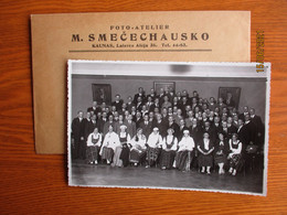LITHUANIA KAUNAS 1935 FOTO SMECECHAUSKO , PROBABLY RELATED TO BALTIC CARTOGRAPHY , REAL PHOTO IN COVER   , O - Litouwen