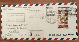 Timbre Sur Enveloppe Bâtiment Charcot Expédition Antarctique 1950 En Terre Adélie :  Http://philadelie.free.fr/1plis.htm - ...-1955 Voorfilatelie